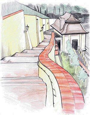 stare zamecke schody